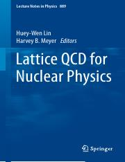 LNP0889 Huey-Wen Lin, Harvey B. Meyer (eds.) - Lattice QCD for Nuclear Physics (Springer Internation