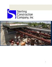 Sterling Construction Company For Presentation