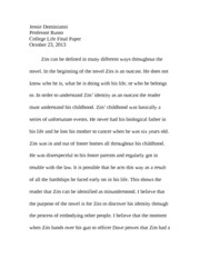College Life Final Paper