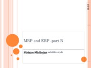 MRP and ERP -part B