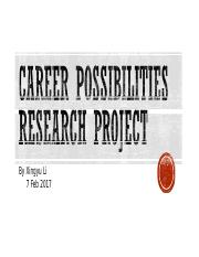 Career Possibilities Research Project 1