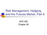 Chapter 20 Part 6 PPT ACE 222 Fall 2013