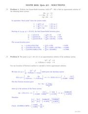 MATH 3650 Fall 2014 Quiz 2 Solutions