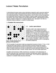 Lecture 7 Notes Percolation