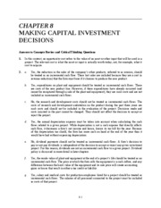 Ch 8 Making Capital Investment Decisions