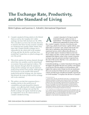 4. The Exchange Rate, Productivity, and the Standard of Living