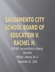 Sacramento City School Board of Education v
