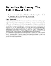 Berkshire+Hathaway+The+Fall+of+David+Sokol.docx