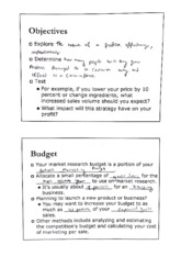 Objectives & Budget