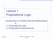 Lecture 1 - Introduction to DM and Propositional Logic