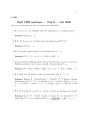 Test 3 Solutions (Fall 2010)