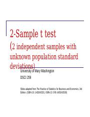Lecture 13 - 2-Sample t test (1).ppt