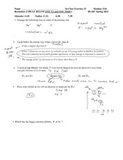 Solutions In Class Exercise 15 09-105 S 15