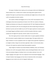 Geo 105 Final essay and terms