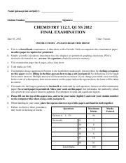 Chem 112 q1 SS 2012 Final Exam dr1