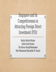 Singapore and its Competitiveness in Attracting Foreign Direct
