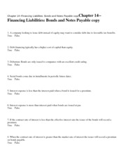 Chapter 14--Financing Liabi