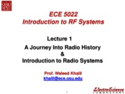 Lect1_A Journey Into Radio History - Introduction to Radio Systems