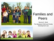 Lecture 20 - Families and Peers