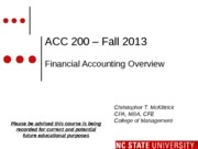 #01 SEC1 MOODLE ACC200 Financial Accounting Overview Fall 2013