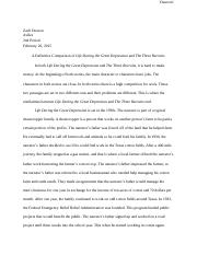 Great Depression and Three Recruits Essay.docx
