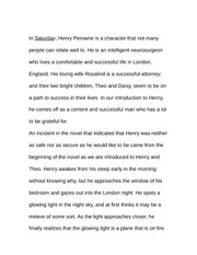 Essay on Henry Perowne