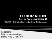 FLUIDIZATION solvedproblems