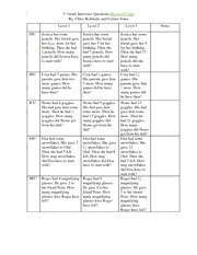 MTHED 305 1st Grade Interview Questions Winter 2014