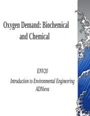 Oxygen Demand Biological and Chemical(1)