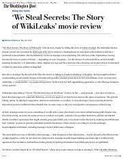 'We Steal Secrets- The Story of WikiLeaks' movie review - The Washington Post copy.pdf