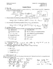 SI #14 - Chapter 17 Review Answer Key - CHEM 102 SI Session ...