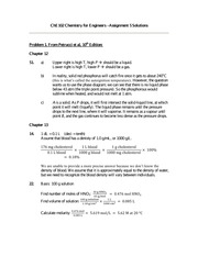 Chemistry for Engineers - Assignment 5 Solutions