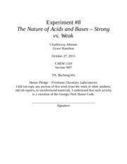 Experiment 8 Lab Report