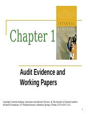 Chapter 10 - Audit Evidence and Working Papers