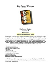 Top Secret Recipes- ( E-books)