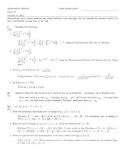 Exam B Solutions on Differential and Integral Calculus