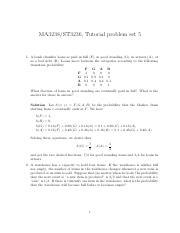 homework_2_sol - MA3238/ST3236 Homework problem set 2 1 At a