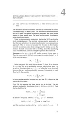 Nonparametric estimation of the cumulative distribution function and associated theory
