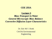 CEE255A-L3-Diffusion & MassTransfer