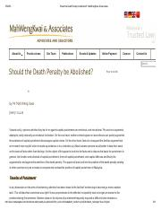 Should the Death Penalty be Abolished_ -MahWengKwai & Associates
