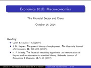 Lecture 13 - The Financial Sector and Crises