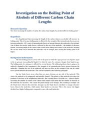 InvestigationontheBoilingPointofAlcoholsofDifferentCarbonChainLengths