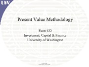 Lecture 2 - Present Value Methodology