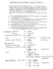 Exam 1 Solution Spring 2008 on Physics 1 Honors with Mechanics
