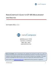 1nanoComposix Guidelines for ICP-MS Analysis