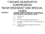 CHAPTER 5-FLEXURE, T BEAMS AND BEAMS WITH COMPRESSION REINFORCEMENT