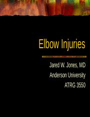 Elbow Injuries Handout.ppt