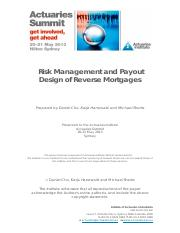 Risk Management and Payout Design of Reverse Mortgages.pdf
