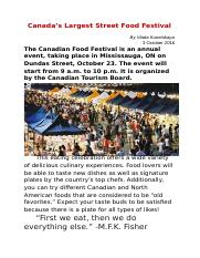 Canada's Largest Street Food Festival