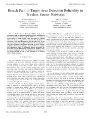 Breach Path to Target Area Detection Reliability in Wireless Sensor Networks.pdf